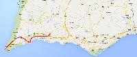 2 dias de ciclismo ao longo da costa sul