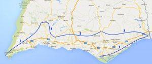 Trans Algarve 5 Fahrradtage
